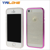 hot sale tpu electroplated bumper phonecase housing for iphone5 5s