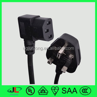European extension cord cable, european power cord, UK 3 pin plug