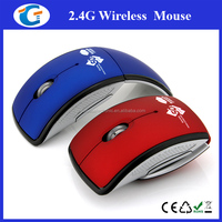 Wireless Products Foldable Arc Optical Mouse For PC