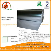 Aluminum foil laminated fiberglass as protect face for wool