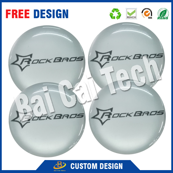 Professional design custom make clear epoxy resin PU stickers