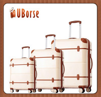 "27""23""19"" ABS 3 piece travelling suitcases luggage set"