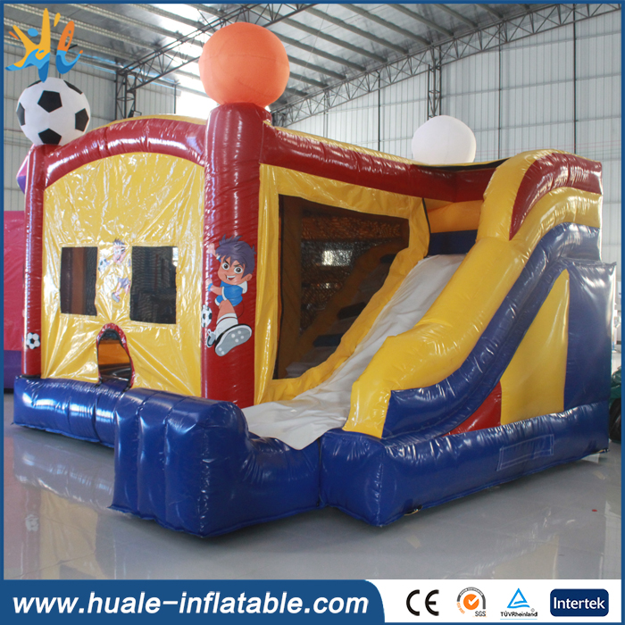 PVC material inflatable bouncer combo, used bouncy castles for sale