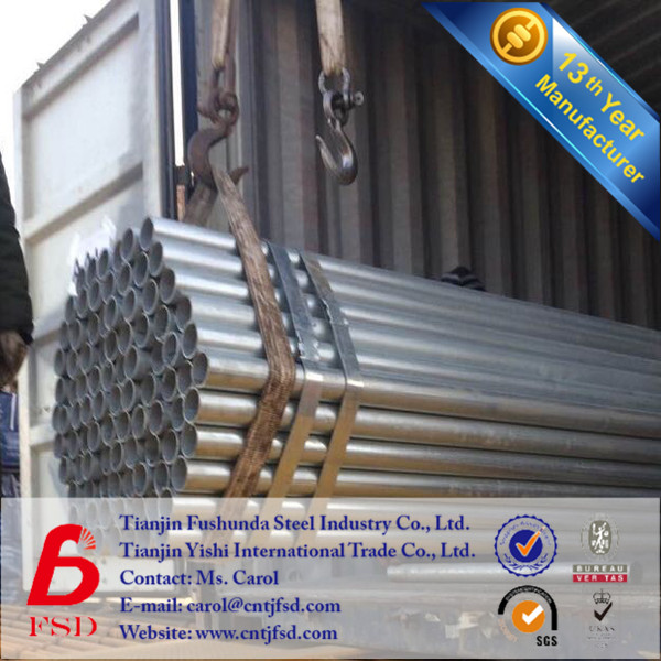 14 years Factory Schedule 80 BS 1387 galvanized pipes and fittings