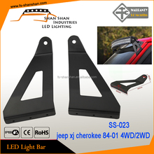 jeep 50 inch curved led light bar mounting brackets