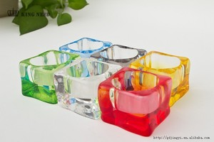 high clear and colorful acrylic crystal candle holder