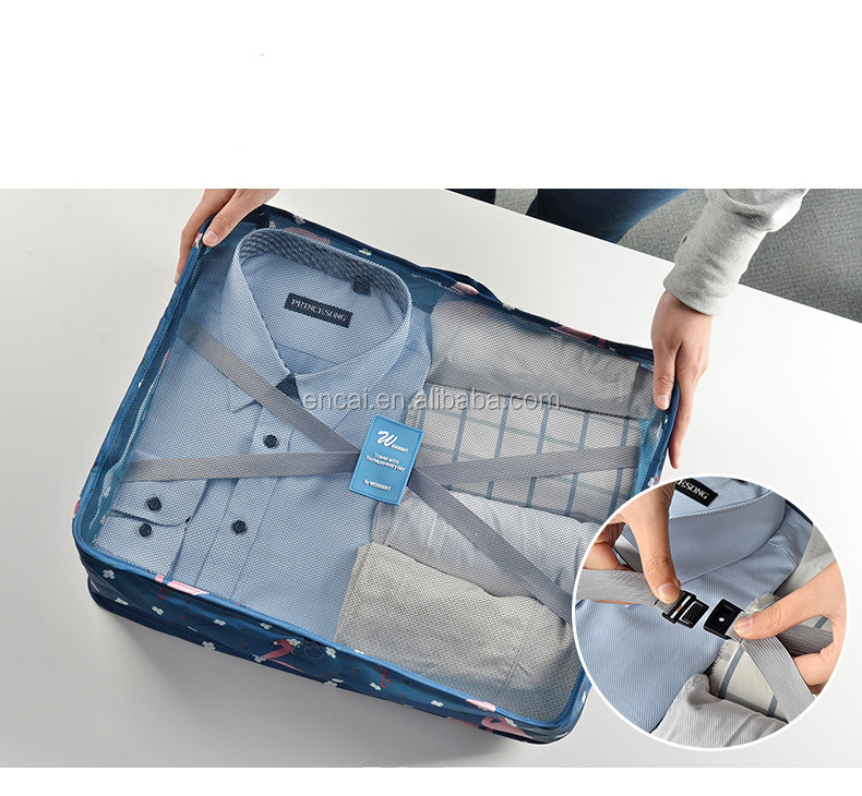 Encai 7 in 1 Luggage Organizer Bag Set Travel Clothes Packing Cube Bags