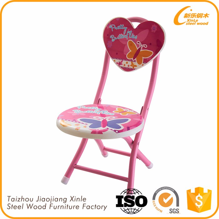 Folding animal cartoon whistle sound kids metal chairs