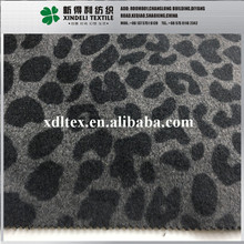 Grey 40% Wool 60% synthetic leopard plush jacquard fabric