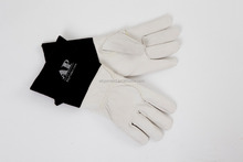 "AP-1077 TIG gloves goatskin Black/Gray 5""cuff"