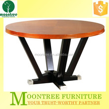 Moontree MDT-1111 china made antique lacquer round wooden dining table