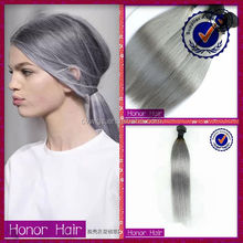 Perfect quality qingdao human hair gray virgin remy 100% peruvian hair weave brands