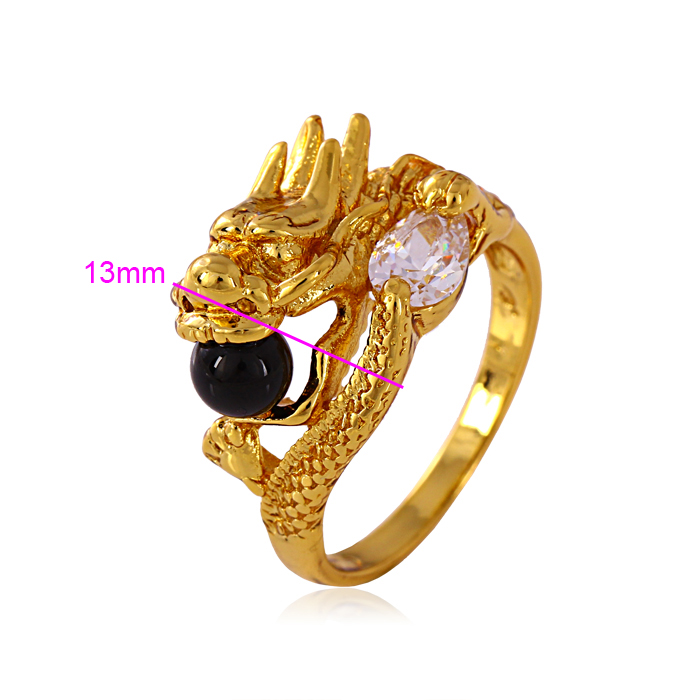 Xuping Fashion Ring High Quality Dragon shape Dazzling New Design Rings With Stones Jewelry(11212)
