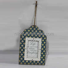 Wooden Photo Frame with Rope, Decorative Photo Frame with Words from picture frame manufacturer
