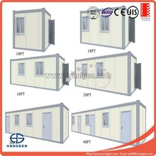 low cost prefab moveable 20ft container house