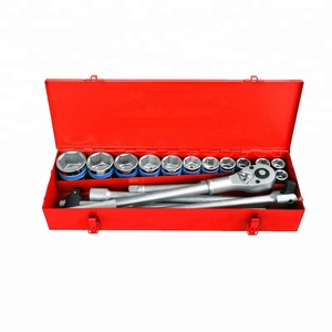 17pcs Mechanical socket wrench tools set metal kids tool set metal case set
