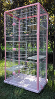 QQ Pet Factory Wholesale Metal Large Cat Cages For Sale & New Design Breeding Cage Cat