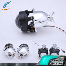 Car Accessories 2.5 Inch Universal Bi-xenon Hid Projector Lens Light Angel Eyes