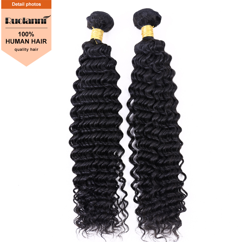 superior quality 100% unprocessed deep wave virgin hair extension