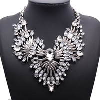 fashion brand necklace women 2015 Angel wings crystal alloy pendant necklace