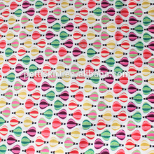 Fancy Latest Balloon Design Printing Fabric Comfortable 100% Cotton Fabric