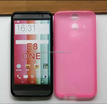 Smooth Wave Curve Gel TPU Case for HTC one E8 Cover Mix color