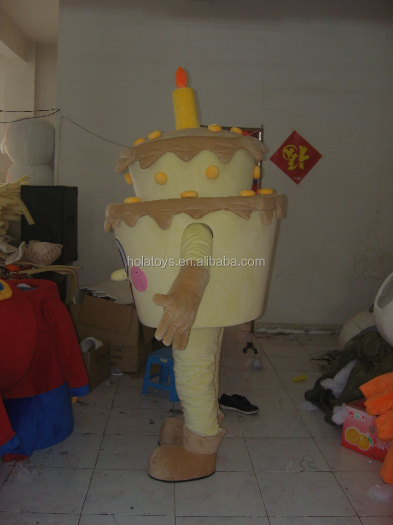 Colorfu birthday cake custom mascot costume/costume