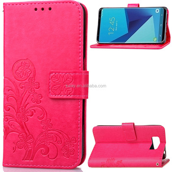Flower printed Leather Wallet Case For Samsung Galaxy S7 Edge S6 S8 Plus S4 S3 S5 Neo J7 J1 Mini A3 A5 J3 J5 2016 Case