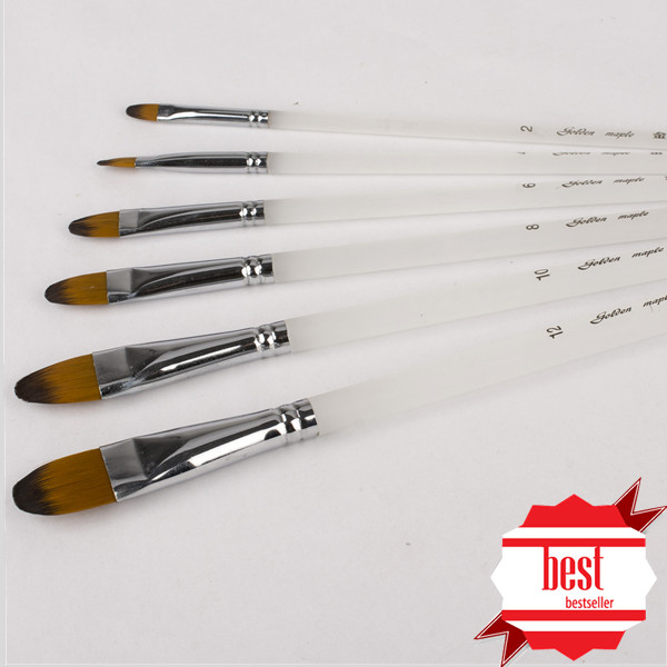 Acrylic Handle Paint Brush set High Quality Bulk Paint Brushes Artists Synthetic Taklon Nylon