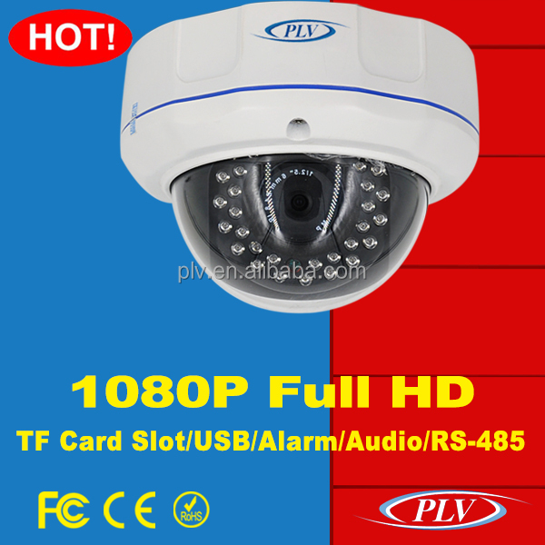 2016 latest 1080p outdoor audio poe ip dome camera support alarm