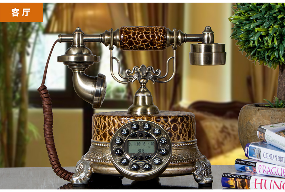 Antique Europe style resin antique telephone cordless for home decor and used