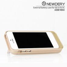 Portable Charger for iPhone SE 5 5s External Battery Case 4200mAh ultra slim power bank