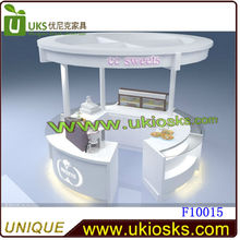 4x3m wooden food coffee juice tea ice cream kiosk cart showcase for sale to shopping mall