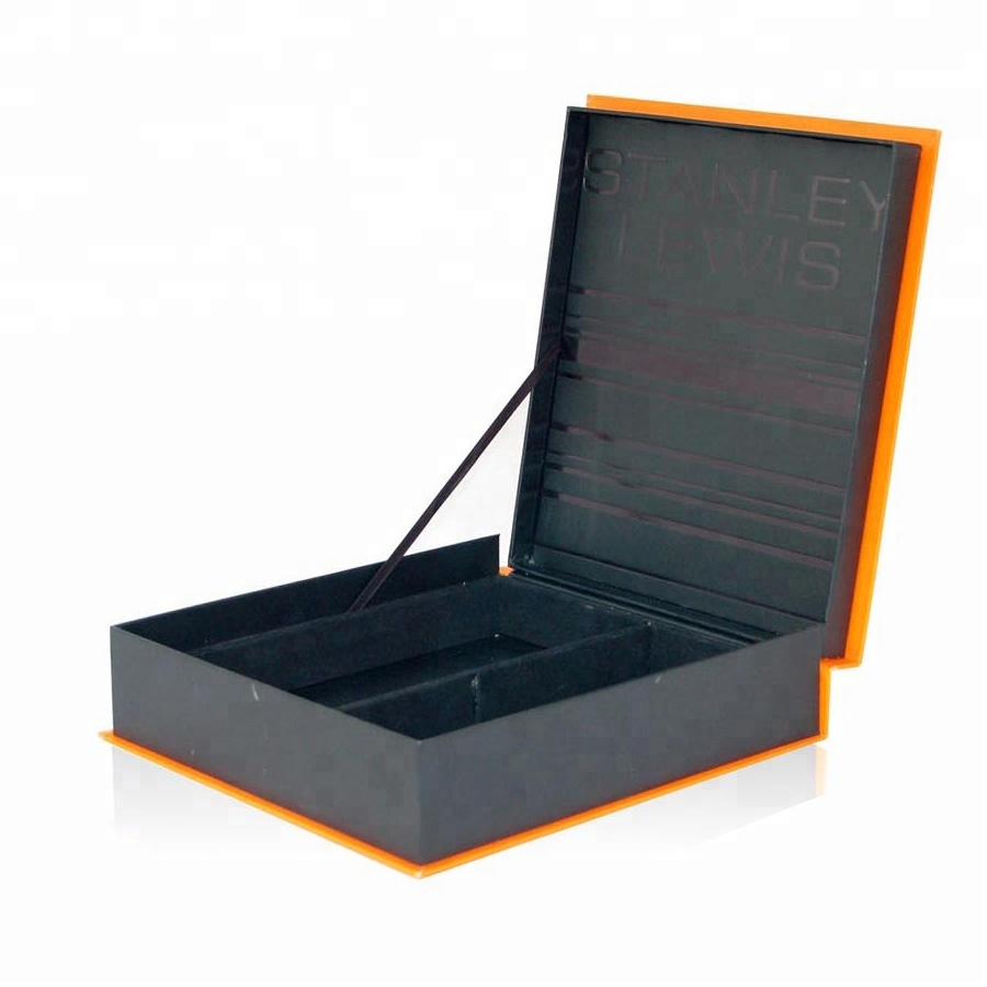 Best selling products household storage box, matte black cardboard wood chocolate gift packing box