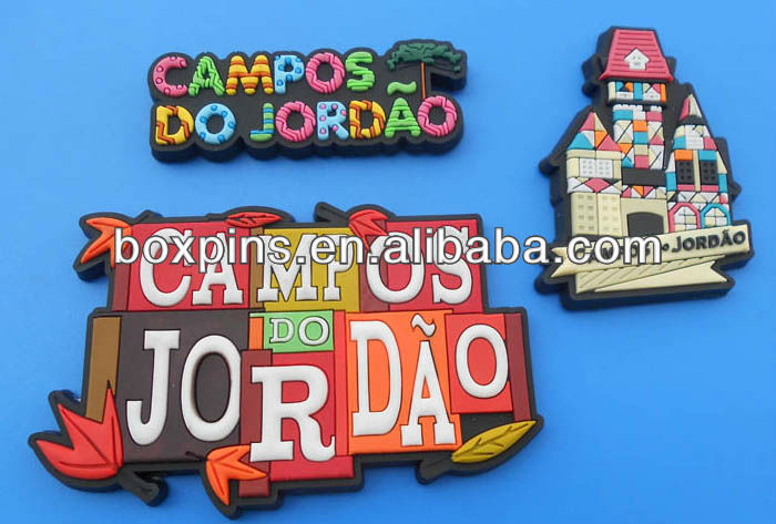 Brazil touristic city name travel rubber fridge magnets personalized