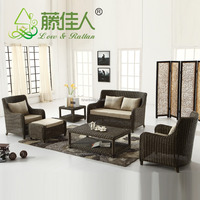 High Quality Classic Bali Patio Garden Resin Wicker Synthetic Poly Rattan Luxury Sofa Chair Outdoor Furniture Set
