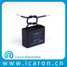 Caron Electronics ceiling fan capacitor 3 wire square shape