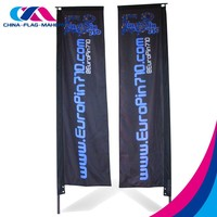 custom advertise street fly vertical beach banner with pole