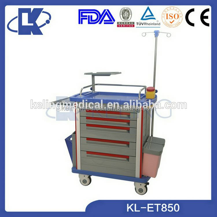 abs emergency resuscitation trolley abs operation trolley drug delivery cart manufacturer