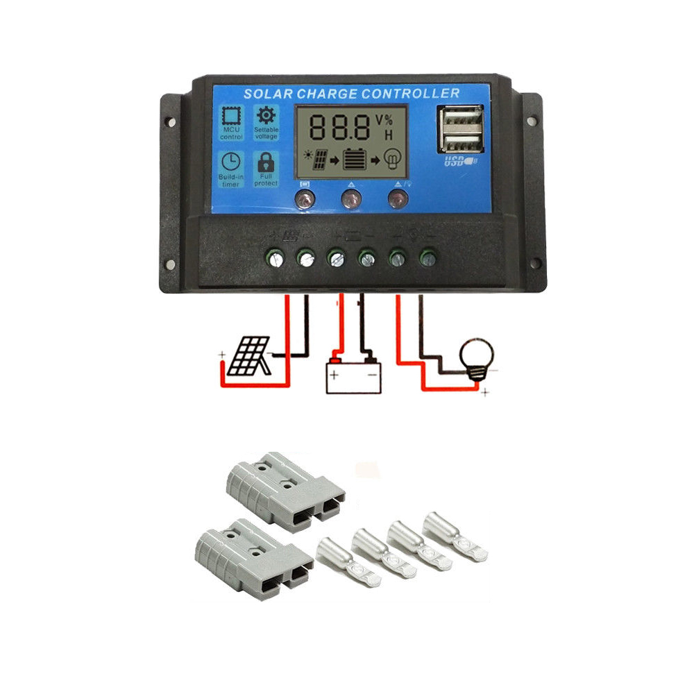 AUSTRALIA HOT SELLING 30A PWM solar charge controller/off-grid system solar regulator With 2 USB