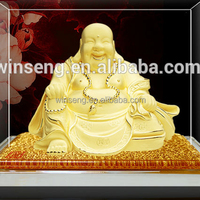 24K Gold Plated Laughing buddha for sale