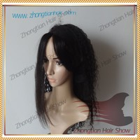 High quality cheap fashion Bandfall Lace Grip Wig Mongolian Human Hair Lace Grip