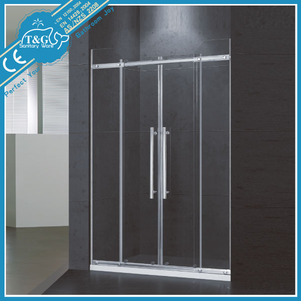 2014 High Quality New Design bubble glass shower door
