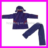 High quality purple rain poncho adult poncho in two pieces
