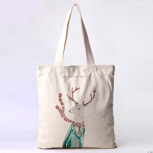 Factory wholesale high quality cotton material personalized unique reusable shopping bags