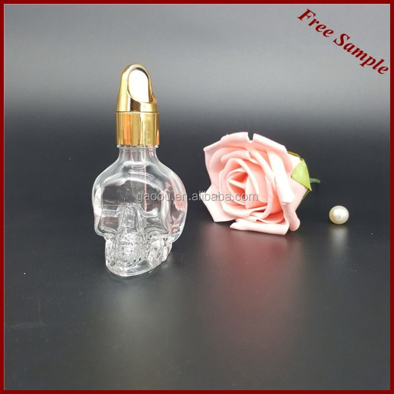 30ml Clear glass dropper bottle with childproof cap for essential oil with childproof cap aspire bdc clearomizer e cigarette