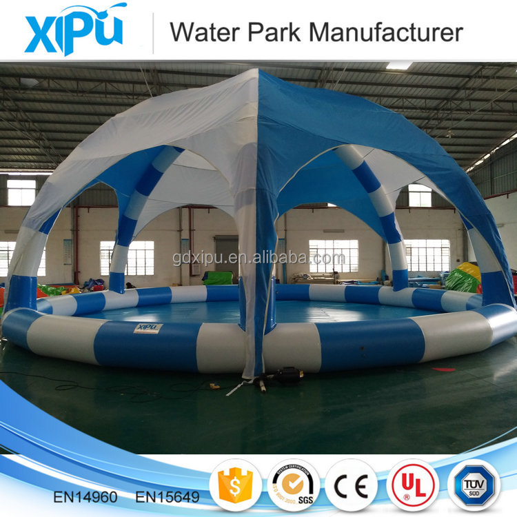 2017 new product inflatable pool with tent