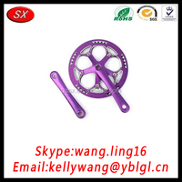Customized Anodized Color Road Exercise Bike Crank For Electric Bike