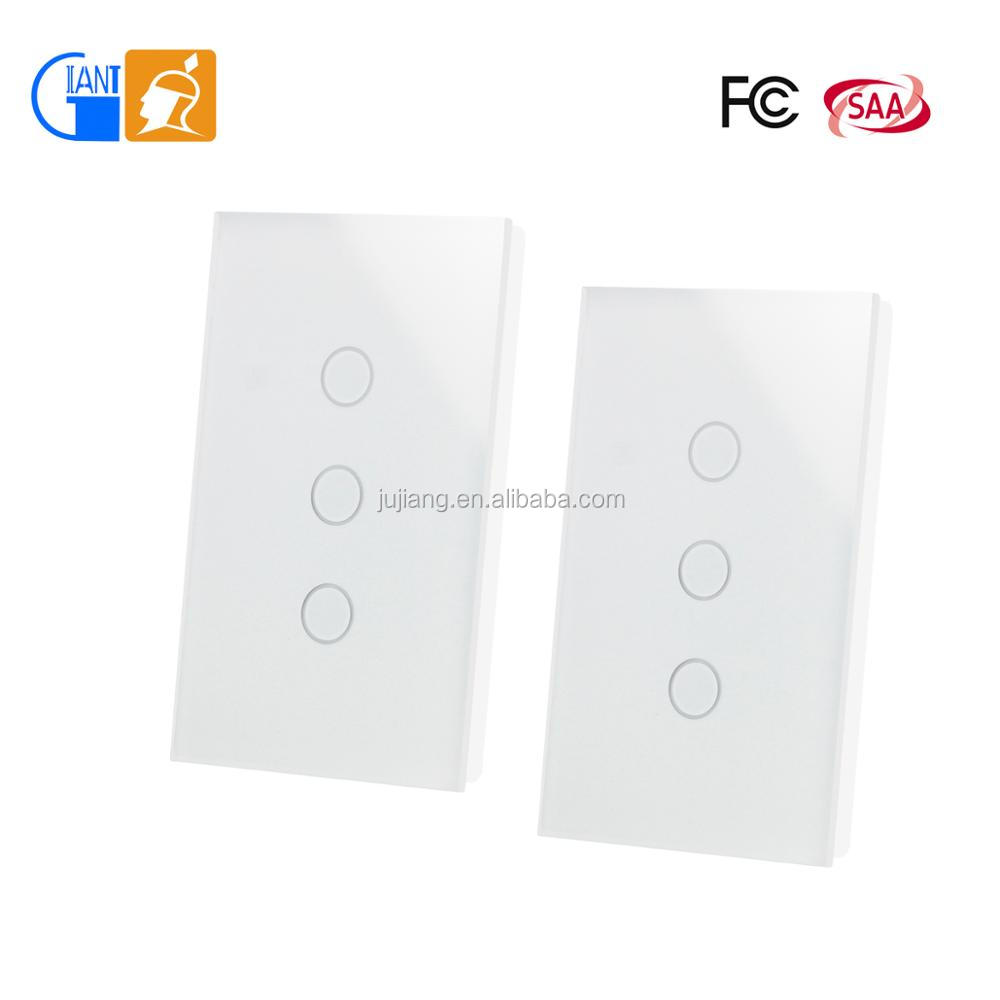 Giant Us Remote 1 2 Way Sensor Wall Mount Touch Switch Crystal Glass Two Panel