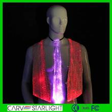 Hot sell led fiber optics luminous fashion polyester fabric necktie